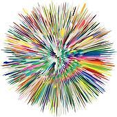 Abstract vector paint splash