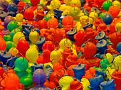 Background of rubber ducks