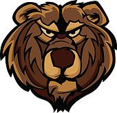 Vector Graphic of Grizzly Bear Masc