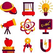 Physics and Astronomy Icons Set