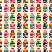shop cart seamless pattern