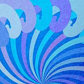 Decorative retro background paper and ornaments
