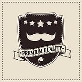 Hipster retro mustache