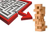 Maze and building blocks.