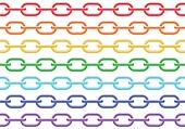 Colorful chain seamless vector background.