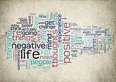 word cloud positive life
