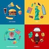 USA flat set