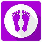 foot pink flat icon
