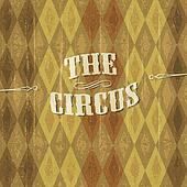 """Diamond"" patterned circus background with the design of ""The Ci"