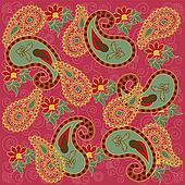 Pretty Pink Colored Paisley