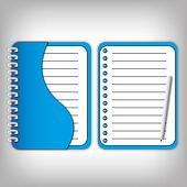 New design cover blue notebook