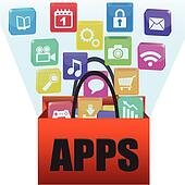 Applications in a shopping bag