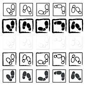 shoe prints icons