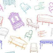 rococo furniture pattern