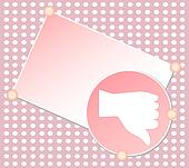 red Unlike hand sign blank vector card