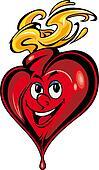 Smiling cartoon heart