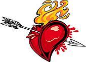 Heart with arrow tattoo