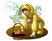 Yellow Easter Bunny