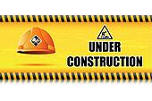 Hard Hat on Under Construction Board