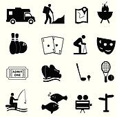 Leisure and fun icons