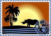 Postage stamp. Savannah