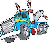 Tow Truck Vector Illustration