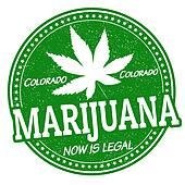 Marijuana, now is legal stamp