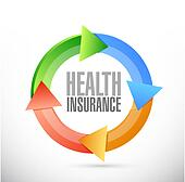 Health Insurance cycle sign concept