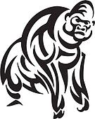 Animal in tribal style - vector illustration