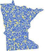 Map of Minnesota (USA)