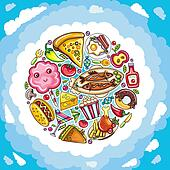 Delicious planet of cute food