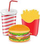 cheeseburger fries potato