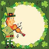 St. Patrick's Day Party leprechaun