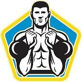 Kettlebell Exercise Weight Training Retro