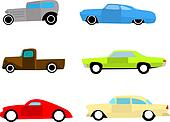 Hot rod cars set