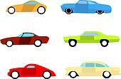 Hot rod cars set