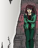 girl in distress