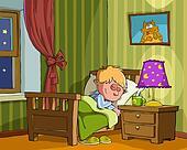 kids bedroom clip art - royalty free - gograph