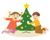 Children_with_christmass_tree
