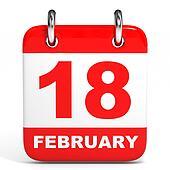 Calendar. 18 February.
