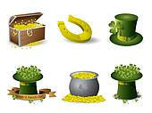Saint Patrick's Day symbols vector set