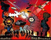 Comic book explosion