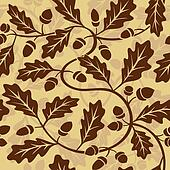 oak leaf acorn seamless background