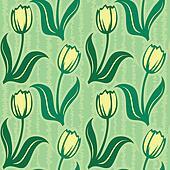 tulip seamless background pattern