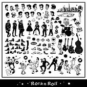 Free vintage rock n roll clipart