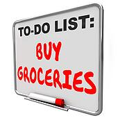 To Do List Buy Groceries Remember Reminder Task Errand Shopping
