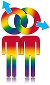 Gay Relationship - Rainbow Colored Symbol