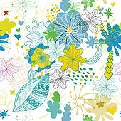 seamless flower spring pattern