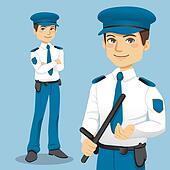 Handsome Police Man