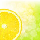 Lemon Segment With Juice And Bokeh